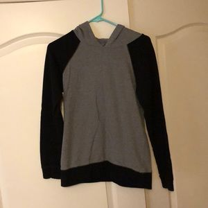 Forever 21- black & gray lightweight hoodie